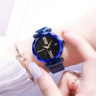 Luxury Starry Sky Quartz Watch Magnet Strap Buckle Stainless Watch Women Gift Blue