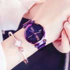 Luxury Starry Sky Quartz Watch Purple