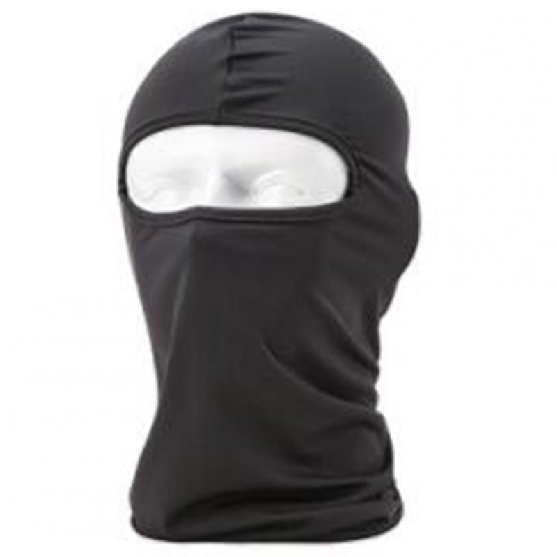 Lycra Fabrics Ski Face Mask Motorcycle Cycling Bike Skateboard Balaclava Dark gray_Average size