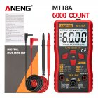 M118A Digital Mini Multimeter Tester Auto Mmultimetro True Rms Tranistor Meter with NCV Data Hold 6000counts Flashlight BGD0070