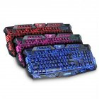 M200 Burst Crack Version Three-Color Backlight Keyboard Keyboard for Office Business Game Burst Crack Pattern