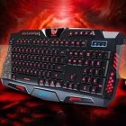 M200 Burst Crack Version Three Color Backlight Keyboard Keyboard for Office Business Game Three Colors Backlight