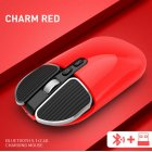 M203 Computer Mouse Wireless Bluetooth Silent Mouse for Desktop Laptop red
