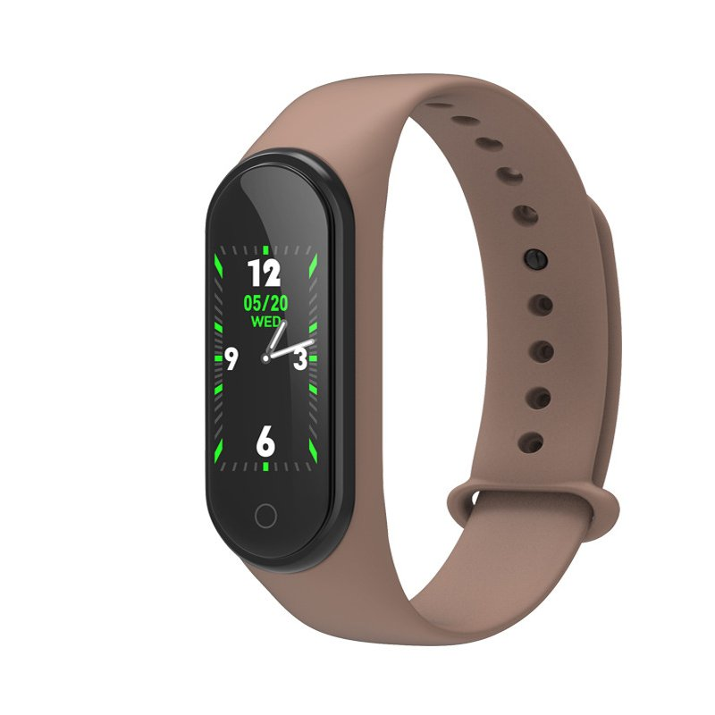 M4 Smart Bracelet Color Screen Intelligent Watch Heart Rate Activity Blood Pressure Monitor Step Count Fitness Wristband  brown