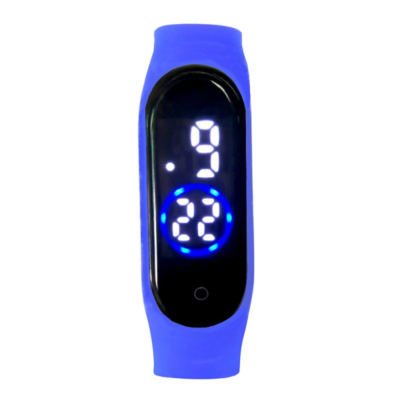 M4 Touch Movement Diving Swimming Fitness Smart LED Bracelet with Month Day Time Display Waterproof royal blue
