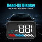 M7 Head-Up Display LED Color Screen HUD GPS Speed OBD2 Fault Code Elimination Car Diagnostic Tool black_M7