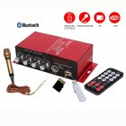 MA130 DC 12V Car Bluetooth Microphone Power Amplifier Power Intelligent Audio Amplifier red