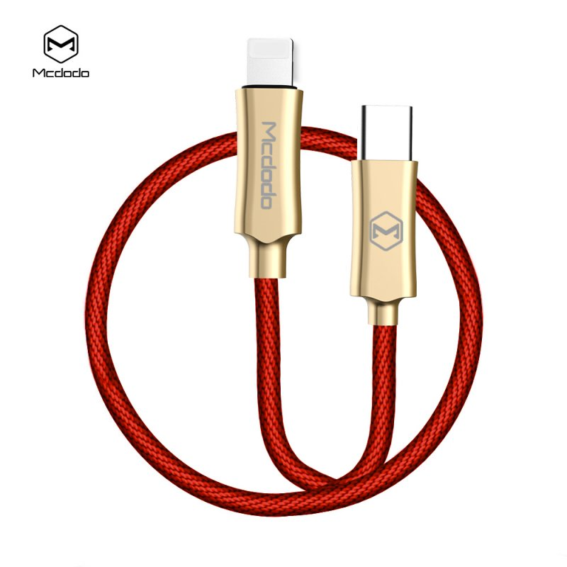 Knight Series 8-pin Cable Quick Charging Cable for iPhone X 8 Plus iPhone XS MAX XR - 1.2m, Red