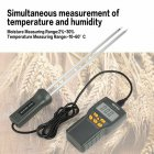 MD7822 Digital Grain Moisture Meter Temperature Thermometer Humidity Tester(No Power) MD7822