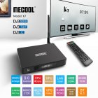 MECOOL K7 DVB-T2/S2/C Android 9.0 TV Box Amlogic S905X2 Quad Core 4K 2.4G 5G WIFI 1000Mbps Set black_British regulations
