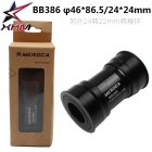 MEROCA BB386 EVO PF30 BB386 Frame to Shimano Sprocket Wheel 24mm Press-in Center Shaft Bottom Bracket black