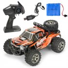MGRC Mini RC Car 1/18 2.4G 4CH 2WD High Speed 20KM/h Brush Crawler Remote Controller Car Kids Toys Orange