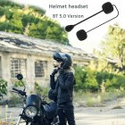 MH05 Bluetooth 5.0 Motorcycle Bluetooth Helmet Headset Low Energy Stereo Handsfree Helmet Headset black