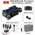 MJX B4W RC Drone GPS Drones with 5G WiFi 4K HD Camera Anti-Shake SD card GPS Optical Flow Follow Brushless Quadcopter VS X12 F11 EPP box