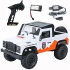 MN 99A 1:12 4WD RC Cars 2.4G Radio Control RC Cars Toys RTR Crawler Off-Road Buggy For Land Rover Vehicle Model Pickup Car white_1 battery