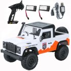 MN 99A 1:12 4WD RC Cars 2.4G Radio Control RC Cars Toys RTR Crawler Off-Road Buggy For Land Rover Vehicle Model Pickup Car white_2 batteries