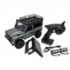 MN-99S 1/12 2.4G 4WD Rc Car W/ Turn Signal LED Light 2 Body Shell Roof Rack Crawler  Truck RTR Toy gray_Dual battery