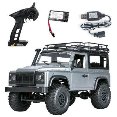 MN 99s 2.4G 1/12 4WD RTR Crawler RC Car Off-Road Buggy For Land Rover Vehicle Model gray_Single battery
