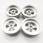 MN Model Metal Beadlock Wheels Rims for MN45 D90 91 96 99 99S 99A 1/12 Rc Car Model Spare Parts DIY  Silver_4PCS