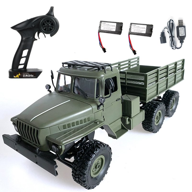 MN80S Ural 1/16 2.4G 6WD RC Car Truck Rock Crawler Command Communication Vehicle RTR Toy MN88S double electric version_1:16