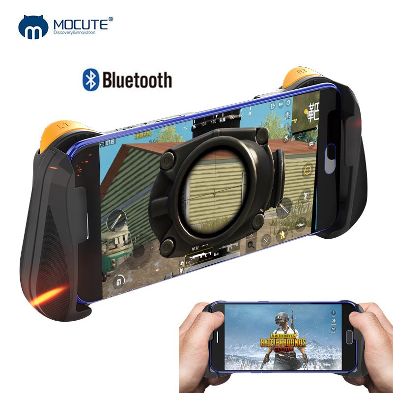 MOCUTE-057 Bluetooth 4.0 Gamepad PUBG Controller PUBG Mobile Triggers Joystick Wireless Joypad for iPhone XS Android Tablet  black
