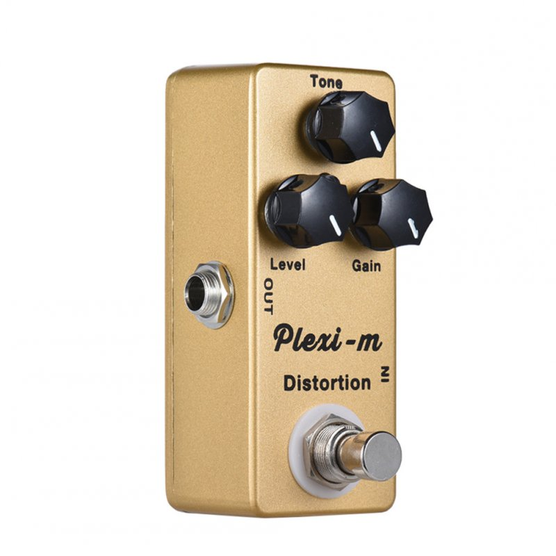 MOSKY Plexi-m Electric Guitar Distortion Effect Pedal Full Metal Shell True Bypass Gold