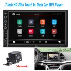 MP5 Auto Media Player USB Bluetooth Audio Car Radio Multimidia MP5 12V FM HD 7  Screen Stereo Radio black