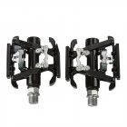 MTB Bicycle Double-sides Ball Bearing Pedal Aluminum Alloy Self-locking Pedal black_C099 pedal