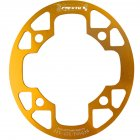 MTB Bike Chainring Protection Cover 32T/34T 36T/38T/40T/42T Bicycle Sprocket Crankset Guard Chainwheel Protector 104bcd oval guard plate 36-38T gold