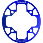 MTB Bike Chainring Protection Cover 32T/34T 36T/38T/40T/42T Bicycle Sprocket Crankset Guard Chainwheel Protector 104bcd oval guard plate 36-38T blue