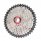 MTB Bike Freewheel 8S/9S 25 28 32 40 42T MTB Mountain Bike Flywheel 8 9 Speed Cassette Sprocket Black + silver_9-speed 42T