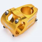 MTB Bike Handlebar Stem Bicycle Stem 31.8*40 MM Aluminum Alloy Bicycle Short Handlebar Stem Riser Fixed Bar Cycling Accessories 31.8*40mm handlebar - gold