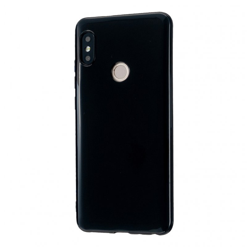 For Redmi GO/Note 5 Pro/Note 6 Pro Cellphone Cover Drop and Shock Proof Soft TPU Phone Case Classic Shell Bright black