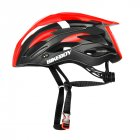 MTB Cycling Bike Sports Safety Helmet Off-road Mountain Bicycle Helmet Outdoors Riding Protective Helmet with Tail Lights Red black - built-in taillights_Free size