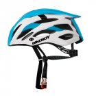 MTB Cycling Bike Sports Safety Helmet Off-road Mountain Bicycle Helmet Outdoors Riding Protective Helmet with Tail Lights Blue and white - built-in taillights_Free size