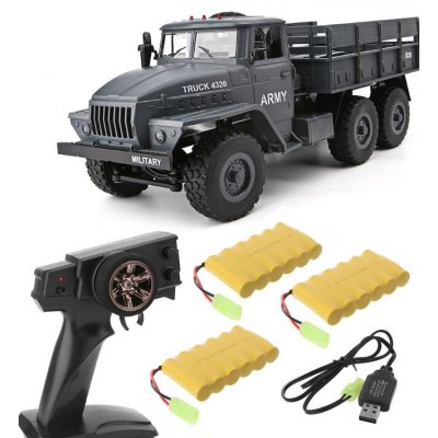MZ YY2004 15KM/H 2.4G 6WD 1/12 Military Truck Off Road RC Car Crawler 6X6 Toys RC Models For Kids Birthday Gift Triple battery