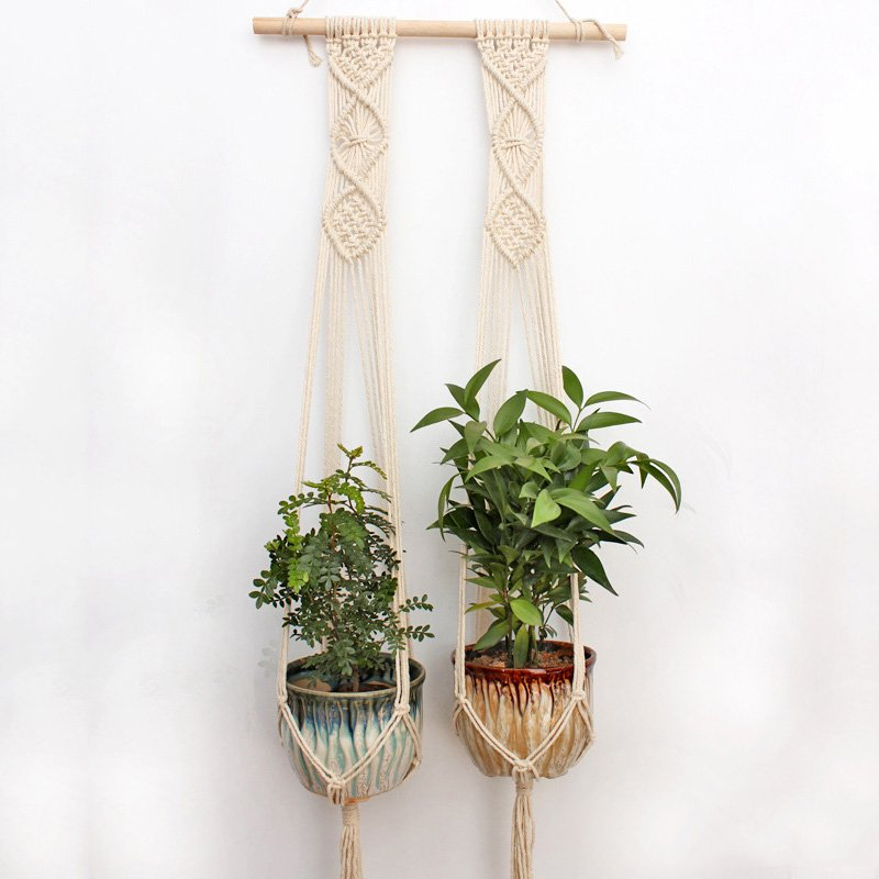 Macrame Plant Hanger G2001 with 2 baskets