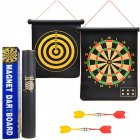 Magnetic Dart Board Double Sided Flocking Dartboards Safety Game Board Toy 17 inch color box
