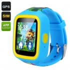 GPS Tracker Kids Watch Phone (Blue)