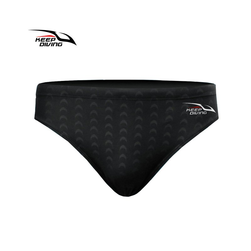 Male Professional Breathable Swim Briefs Quick-dry Swimming Trunks Comfortable Swim Wear Gift black_2XL
