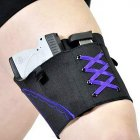 Man Woman Leg Holster Lady Anti-slip Adjustable Six Hook-and-eye Garter Pistol Holder Purple line_51*10cm