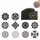 Mandala Aided Painting Template Stone Painting Decoration Spray Flower Hollowed Out Diy Painting 1 set