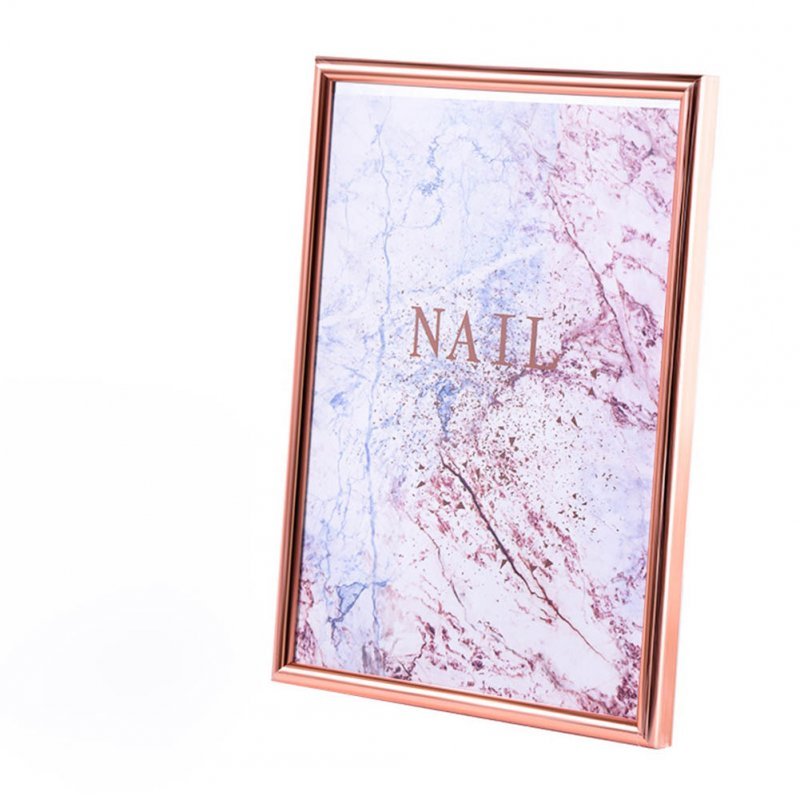 Manicure Display Frame Magnet Movable Nail Shop Showing Stand Board Double-sided Adhesive Tape Rose gold display frame