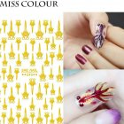 Manicure Nail Sticker Manicure Stickers Accessories Strawberry Rainbow Cherry Stickers Nail sticker 090