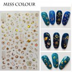 Manicure Nail Sticker Manicure Stickers Accessories Strawberry Rainbow Cherry Stickers Nail sticker_208