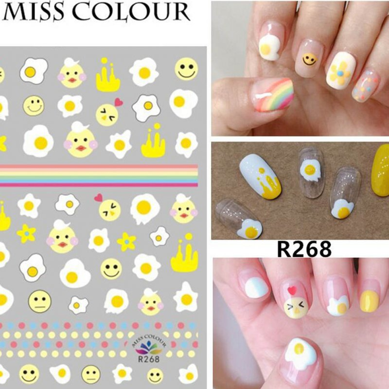 Manicure Nail Sticker Manicure Stickers Accessories Strawberry Rainbow Cherry Stickers Nail sticker_268