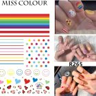 Manicure Nail Sticker Manicure Stickers Accessories Strawberry Rainbow Cherry Stickers Nail sticker_265