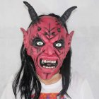 Mask Satan Devil April Fool's Day Halloween Dance Performance Red Devil Mask Ghost Mask of Terror red