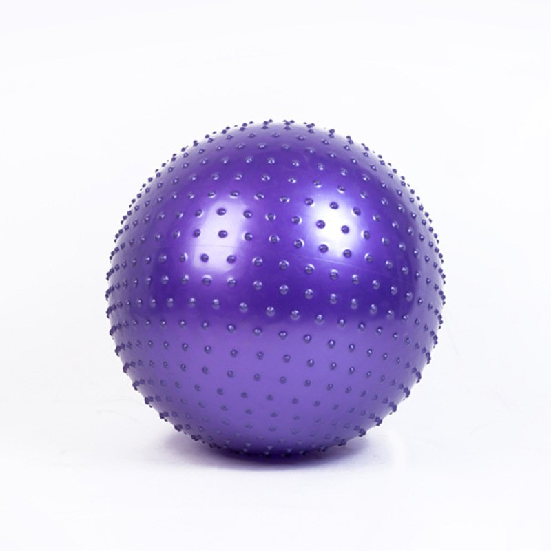 Massage Ball Spiky Yoga Gym Ball Trigger Point Stress Relief 65cm Portable Muscle Relaxation Ball purple