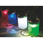 MaxSale Solar Power Hanging Cylinder Lanterns LED Landscape Path Outdoor Light